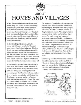 Pocket 04: Homes and Villages (Colonial America)