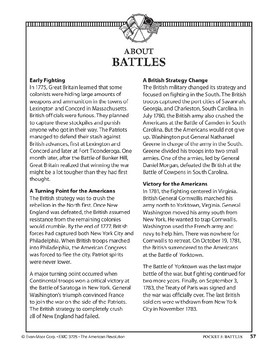 Pocket 05: Battles (The American Revolution)