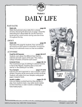 Pocket 05: Daily Life (Colonial America)