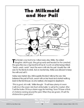 Pocket 05: The Milkmaid and Her Pail (Aesop's Fables)