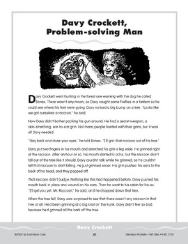 Pocket 06: Davy Crockett, Problem-Solving Man (Tall Tales)