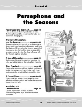 Pocket 06: Persephone and the Seasons (Greek and Roman Myths)