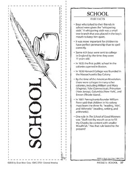 Pocket 06: School (Colonial America)