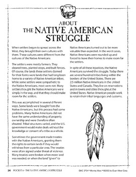 Pocket 06: The Native American Struggle (Moving West)