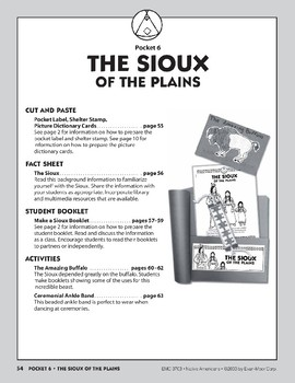 Pocket 06: The Sioux of the Plains (Native Americans)