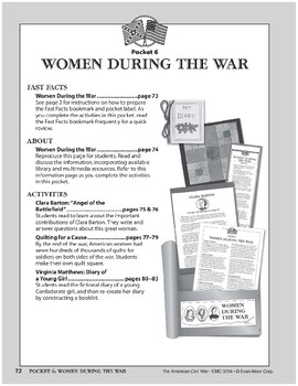 Pocket 06: Women During the War (The American Civil War)