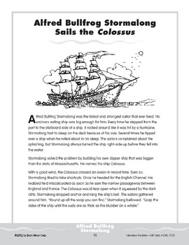 "Pocket 07: Alfred Bullfrog Stormalong Sails the ""Colossus"" (Tall Tales)"
