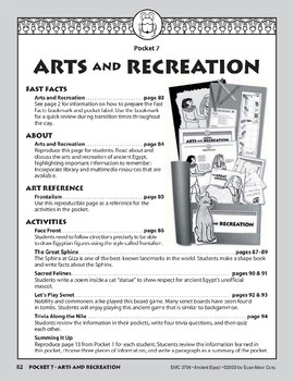 Pocket 07: Arts and Recreation (Ancient Egypt)