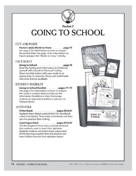 Pocket 07: Going to School (Plymouth Colony)