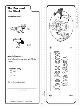 Pocket 07: The Fox and the Stork (Aesop's Fables)