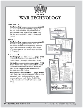 Pocket 07: War Technology (The American Civil War)