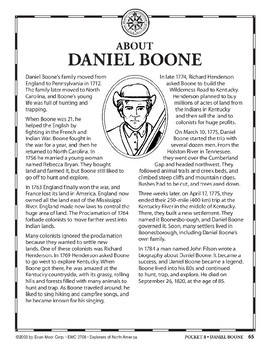 Pocket 08: Daniel Boone (Explorers of North America)