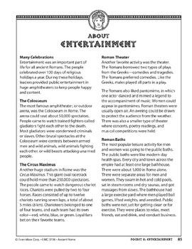 Pocket 08: Entertainment (Ancient Rome)