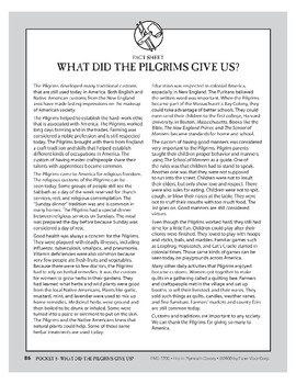 Pocket 08: What Did the Pilgrims Give Us? (Plymouth Colony)