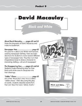 """Pocket 09: David Macaulay: """"Black and White"""" (Caldecott Winners 4-6)"""