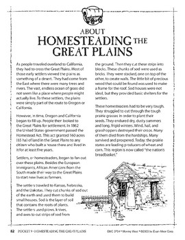 Pocket 09: Homesteading the Great Plains (Moving West)