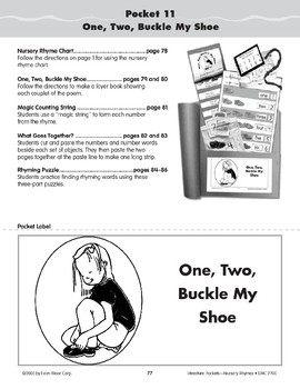 Pocket 11: One,Two, Buckle My Shoe (Nursery Rhymes)