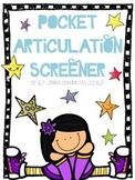Pocket Articulation Screener **UPDATED!**