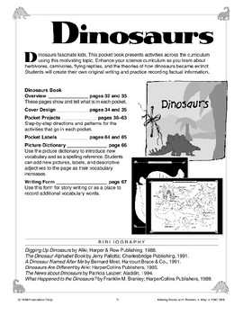 Pocket Book about Dinosaurs