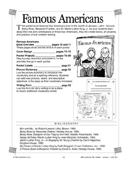 Pocket Book of Famous Americans