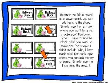 Behavior Bucks: Classroom Management: Behavior Incentive
