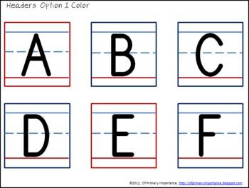 Pocket Chart ABC Sort