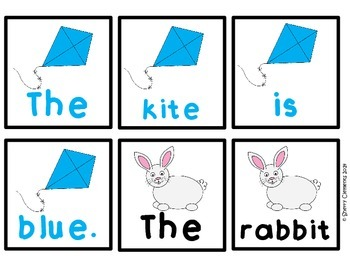 Pocket Chart Sentences (Color Words)