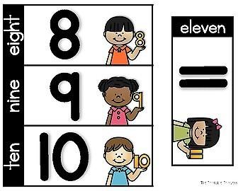 Pocket Chart Activities {Kindergarten Math: Numbers to 10}