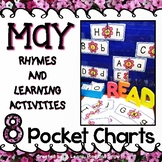 Pocket Chart Activities Kindergarten PreK for May - 8 Activities