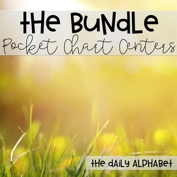 Pocket Chart Activities & Printables BUNDLE