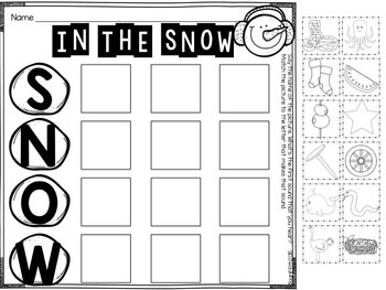 Pocket Chart Activities & Printables January