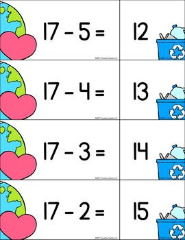 Pocket Chart Activities for Subtraction within 20