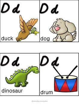Pocket Chart Alphabet Cards