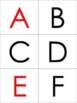 Pocket Chart Alphabet Center Cards
