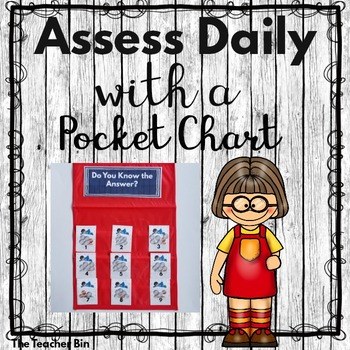 Kindergarten - 1st- 2nd - Special  Ed. -Assessing Daily-Pocket Chart & Cards