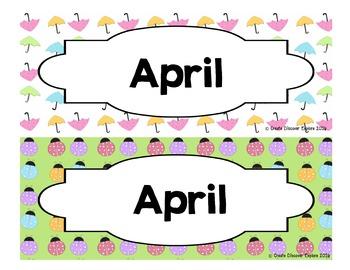 Calendar - Pocket Chart Calendar April