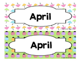 Calendar - Pocket Chart Calendar April