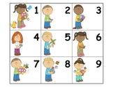 Calendar: Pocket Chart Calendar Cards - Kids in Spring