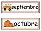 Pocket Chart Calendar Cards (Spanish version)