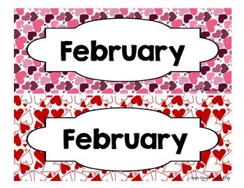 Calendar - Pocket Chart Calendar February