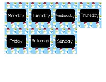 Calendar - Pocket Chart Calendar January