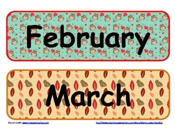 Pocket Chart Calendar for Southern Hemisphere Schools