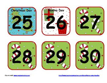 Pocket Chart Calendar for Southern Hemisphere Schools