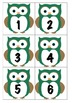 Pocket Chart Calendar Months for New Zealand With Owl Numbers