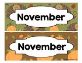 Calendar - Pocket Chart Calendar November