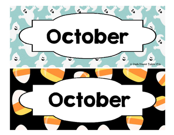 Calendar - Pocket Chart Calendar October