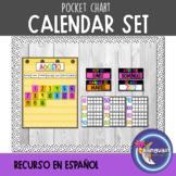 Pocket Chart Calendar Set in SPANISH