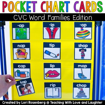 Pocket Chart Cards {CVC Word Families Edition}