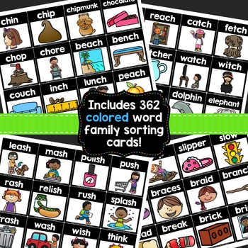 Pocket Chart Cards {Digraphs and Blends Edition}