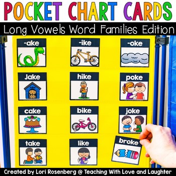 Pocket Chart Cards {Long Vowels Word Families Edition}